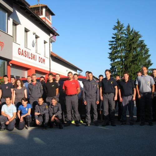 Zaključni izpit za bodočih 25 gasilskih častnikov